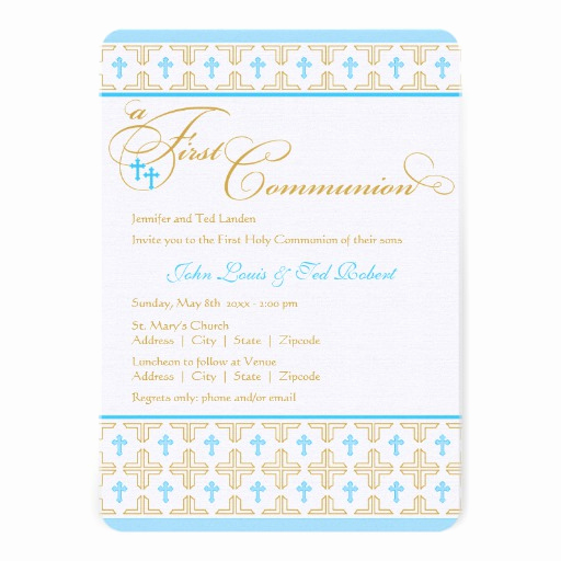 Boy First Communion Invitation Best Of Personalized Twin Boy First Holy Munion Invitations