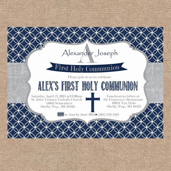 Boy First Communion Invitation Elegant 86 Best Images About First Munion On Pinterest