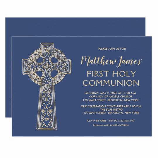 Boy First Communion Invitation Elegant First Munion 1st Holy Munion Invitations