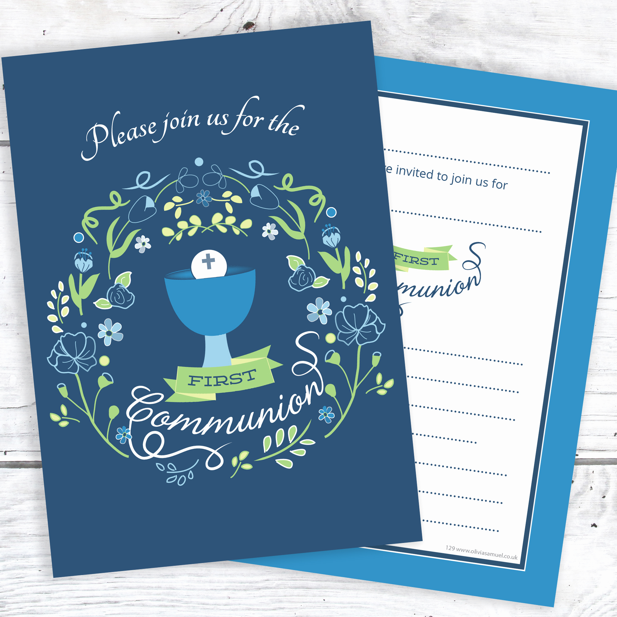 Boy First Communion Invitation Inspirational First Holy Munion Invitations – Boys Blue Design
