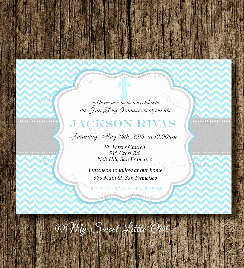 Boy First Communion Invitation Luxury Boy First Munion Invitation First Munion Invite Holy
