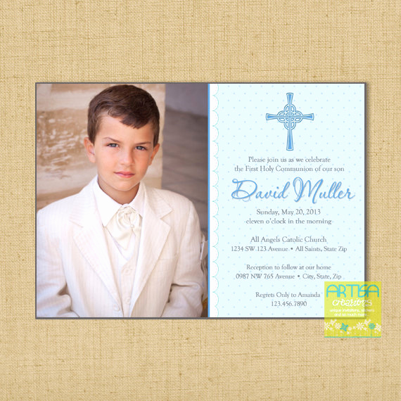 Boy First Communion Invitation Unique Boy First Munion Invitations Boys First Munion