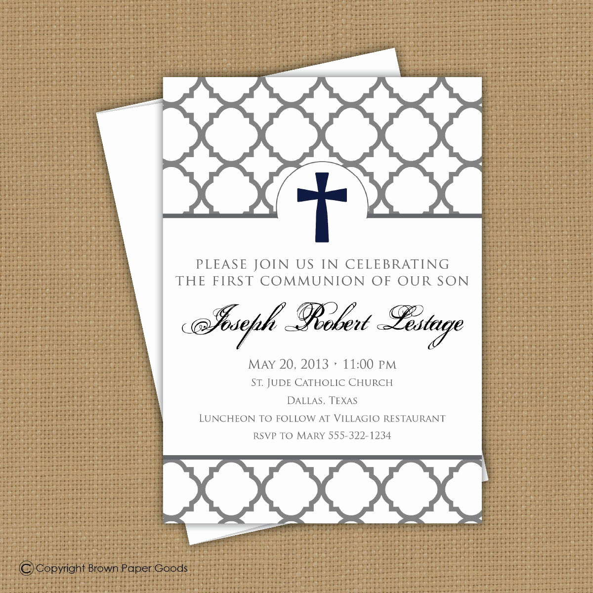 Boy First Communion Invitation Unique Confirmation Invitation First Munion Invitation Baptism