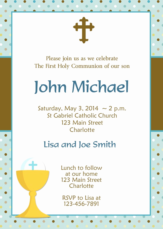 Boy First Communion Invitation Unique First Holy Munion Invitation Boys First Munion