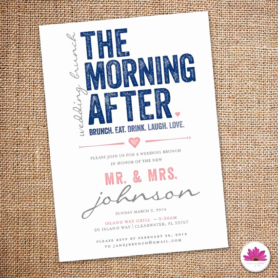 Bridal Brunch Invitation Wording Awesome after Wedding Brunch Invitation Wording