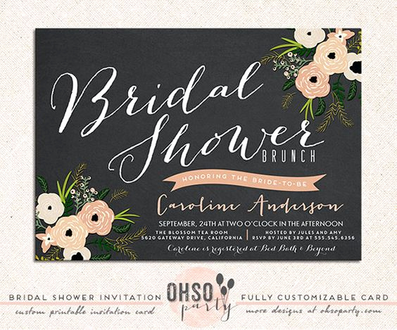 Bridal Brunch Invitation Wording Fresh Bride & Bloom Custom Bridal Shower Brunch Invitation