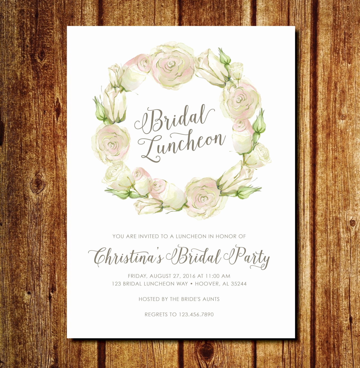 Bridal Brunch Invitation Wording Fresh Floral Bridal Luncheon Invitation