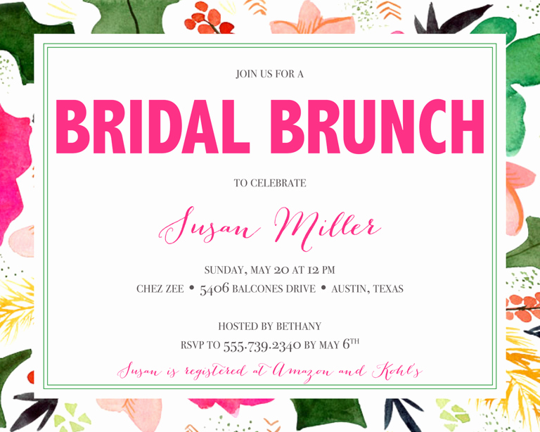 Bridal Brunch Invitation Wording Inspirational Bridal Shower Invitation Wording Ideas and Etiquette
