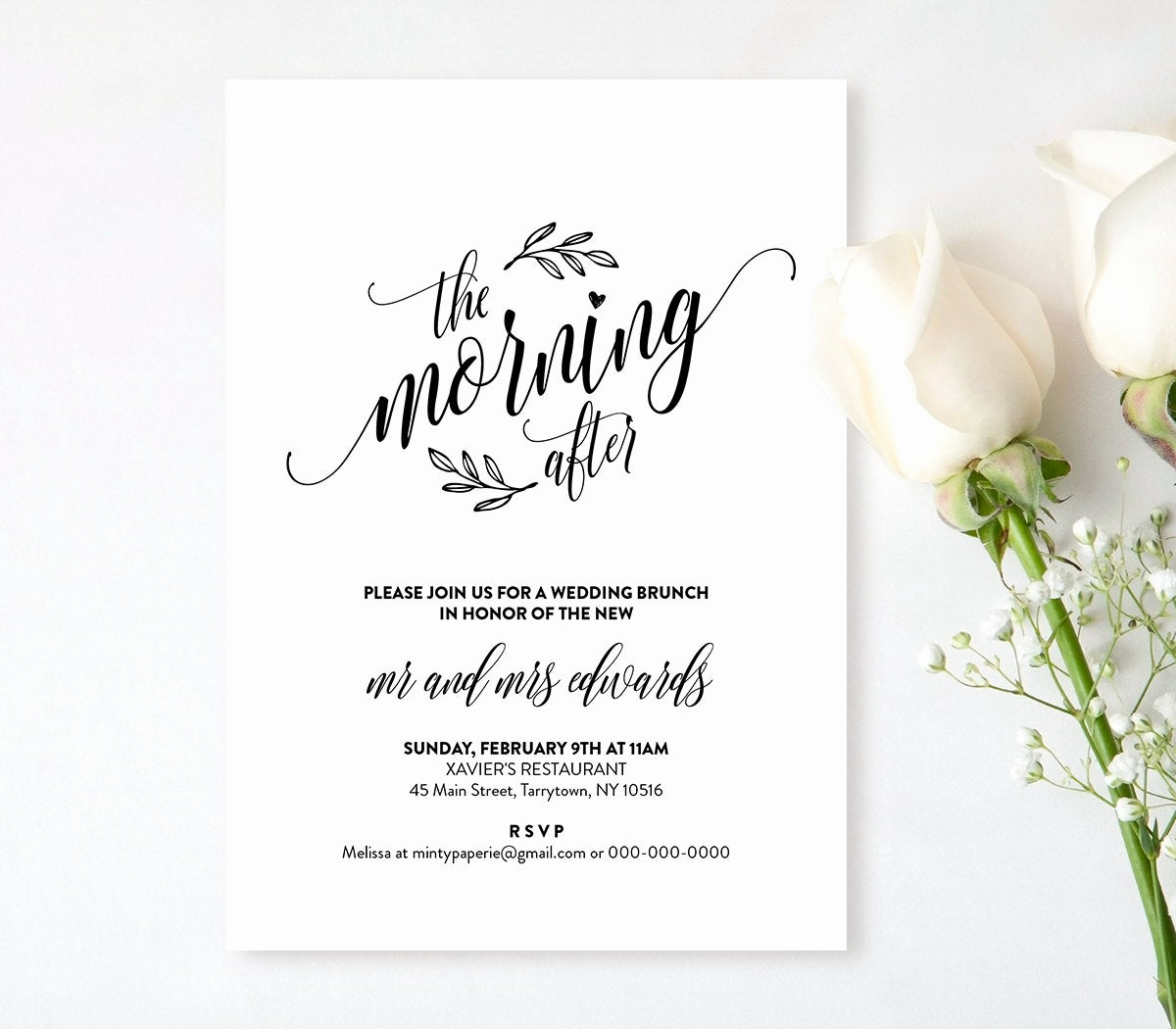 Bridal Brunch Invitation Wording Inspirational Wedding Brunch Invitation Template Printable Post Wedding