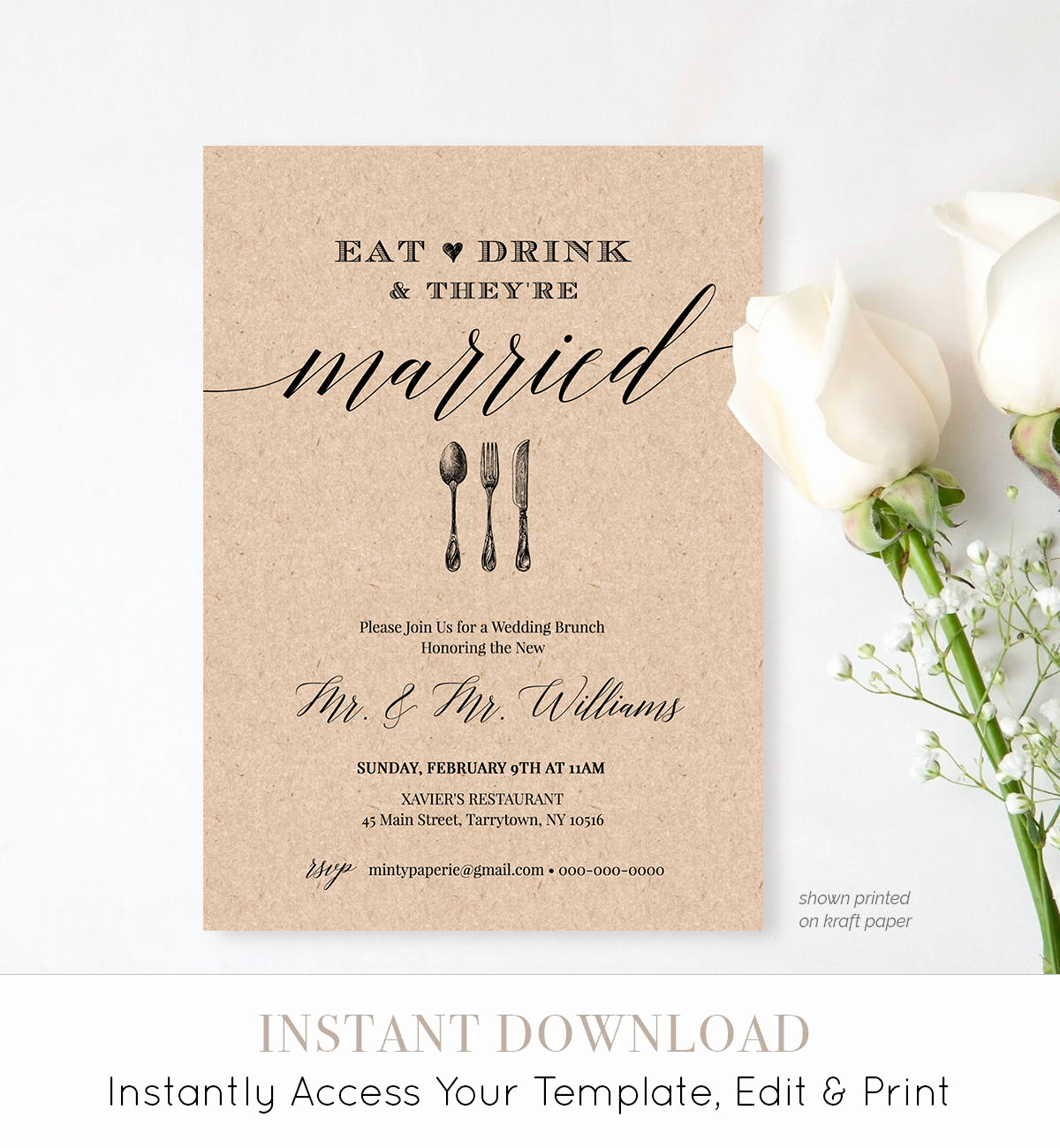 Bridal Brunch Invitation Wording Lovely Post Wedding Brunch Invitation Template Printable Brunch