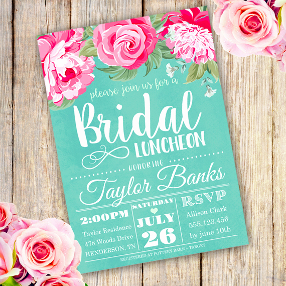 Bridal Luncheon Invitation Wording Awesome Bridal Shower Luncheon Invitation Template Edit with