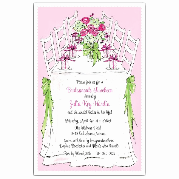 Bridal Luncheon Invitation Wording Beautiful Bridesmaids Luncheon Invitations