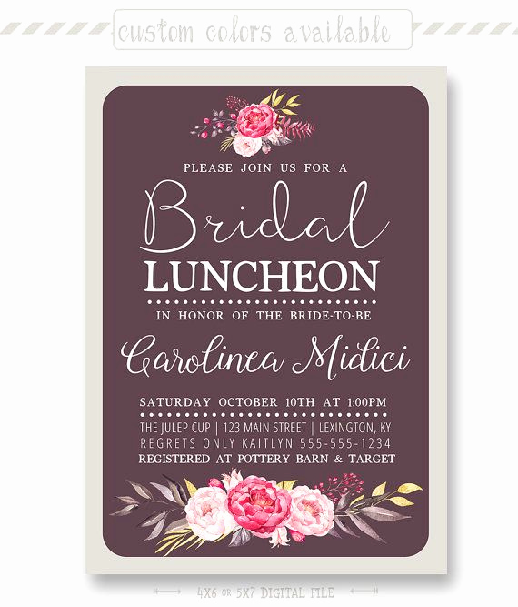 Bridal Luncheon Invitation Wording Best Of 1000 Ideas About Bridal Luncheon Invitations On Pinterest