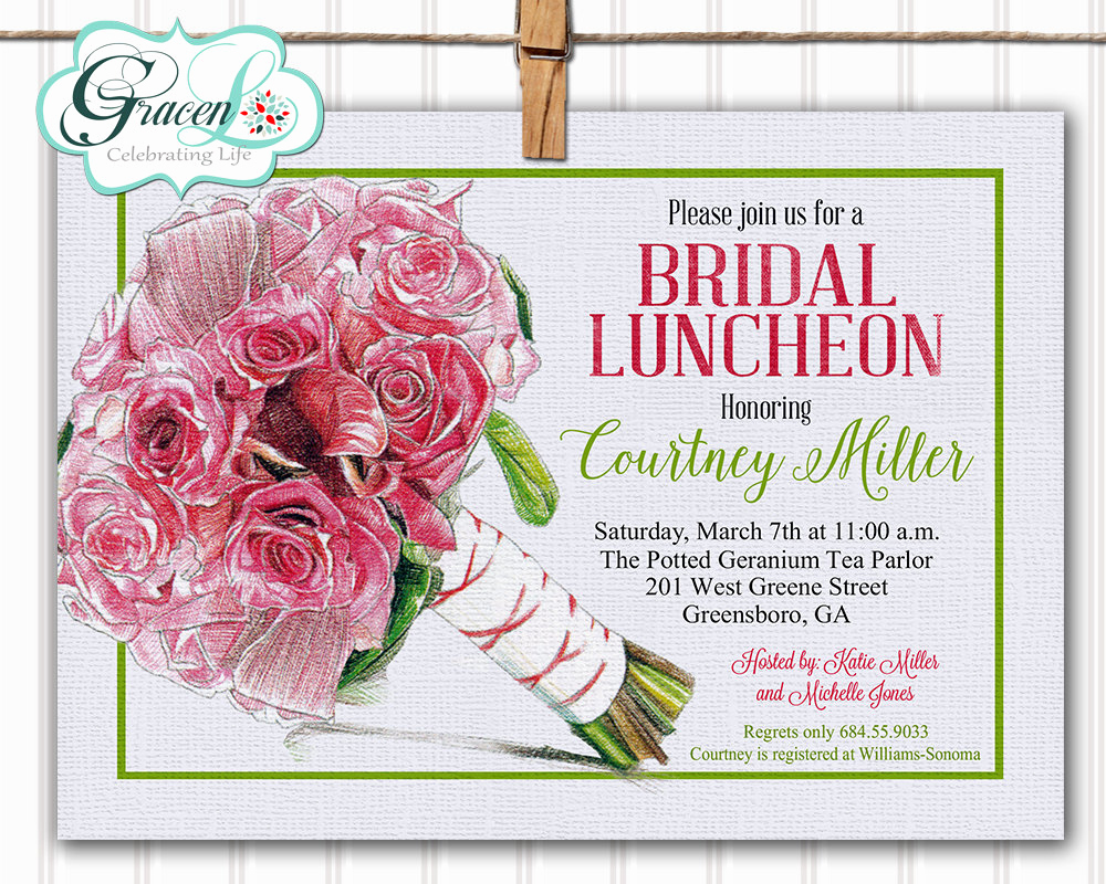 Bridal Luncheon Invitation Wording Lovely Bridal Luncheon Invitation Bridal Brunch Invitation Bridal