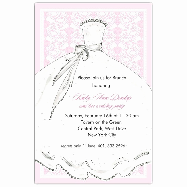 Bridal Luncheon Invitation Wording New Sample Wording Brunch Invitations
