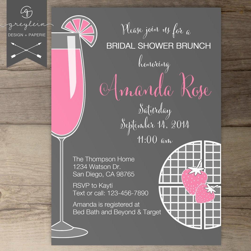 Bridal Shower Brunch Invitation Beautiful Bridal Shower Brunch Invitations Bachelorette Invites