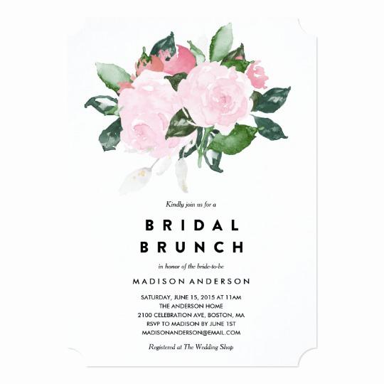 Bridal Shower Brunch Invitation Best Of Chic Romance Bridal Shower Brunch Invitation