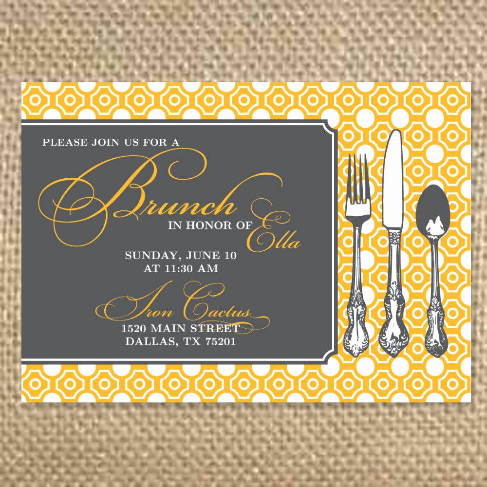 Bridal Shower Brunch Invitation Fresh Pretty Bridal Brunch Invitation by Uluckygirl On Etsy