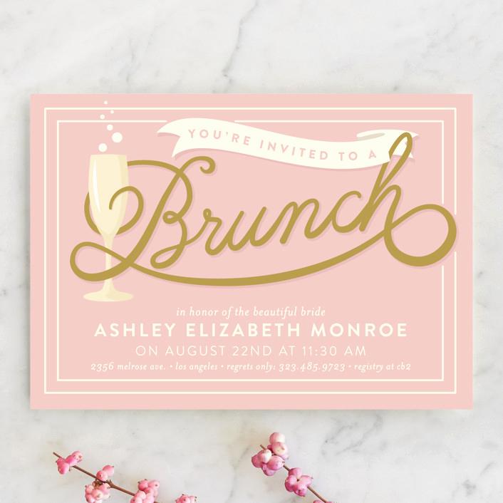 Bridal Shower Brunch Invitation Lovely Bubbly Brunch Bridal Shower Invitations by Geekink Design