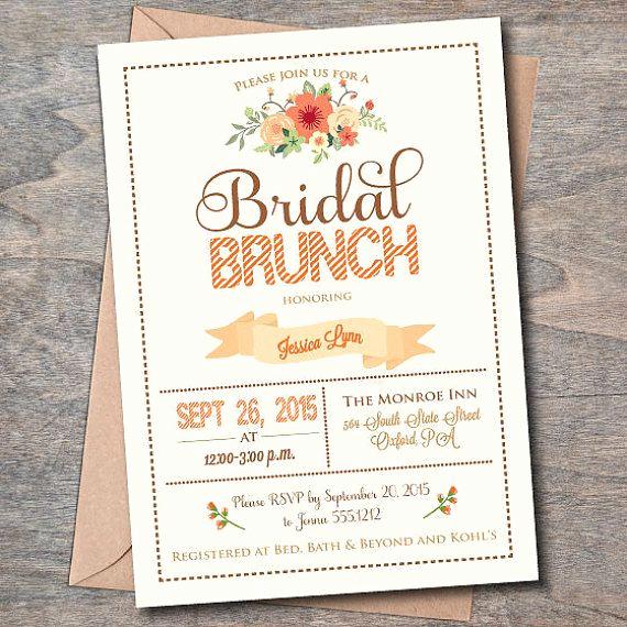 Bridal Shower Brunch Invitation Luxury Best 25 Bridal Shower Fall Ideas On Pinterest
