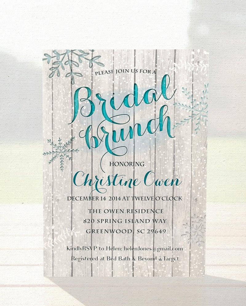 Bridal Shower Brunch Invitation Luxury Winter Bridal Shower Invitation Bridal Brunch by