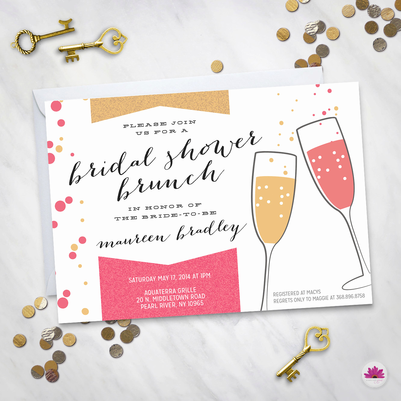 Bridal Shower Brunch Invitation Unique Bridal Shower Brunch Invitation Digital File