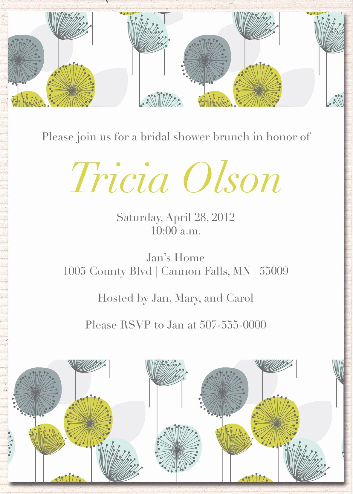 Bridal Shower Brunch Invitation Unique Wedding Invitation Sample Wedding Invitation Card New