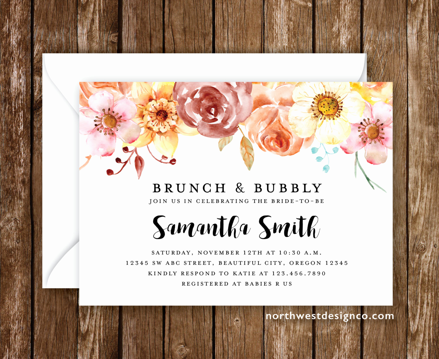 Bridal Shower Brunch Invitation Wording Best Of Brunch and Bubbly Bridal Shower Invitation Spring Invitation