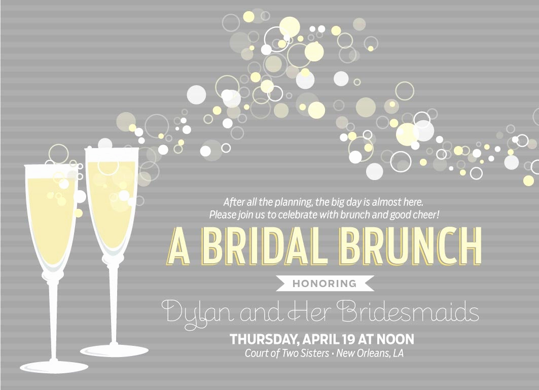 Bridal Shower Brunch Invitation Wording Fresh Champagne Brunch Invitations by Apinchoflovely On Etsy