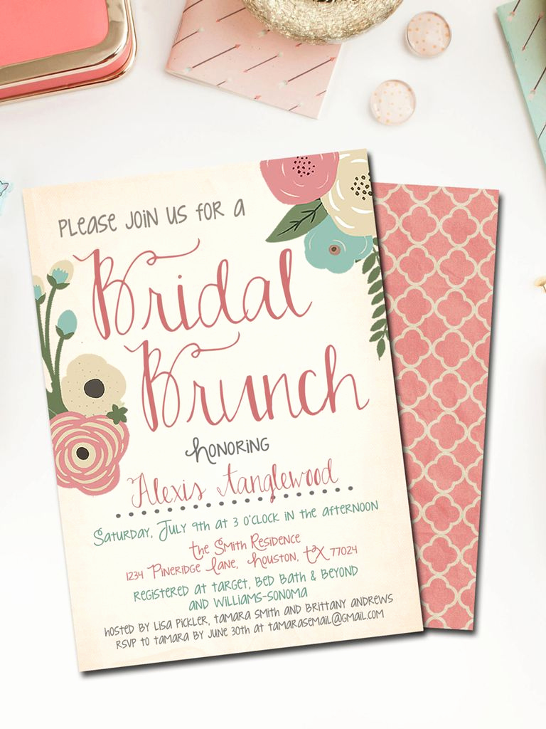 Bridal Shower Brunch Invitation Wording Fresh Printable Bridal Shower Invitations You Can Diy