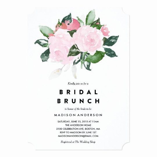 Bridal Shower Brunch Invitation Wording Inspirational Chic Romance Bridal Shower Brunch Invitation