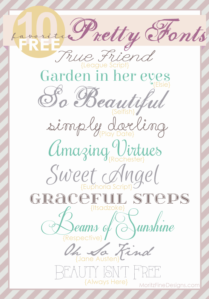Bridal Shower Invitation Fonts Inspirational Pretty Fonts Free Font Friday