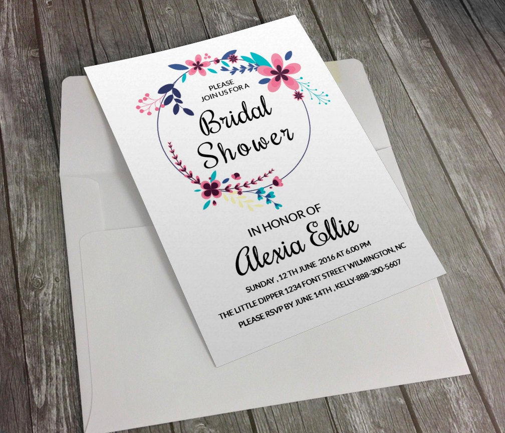 Bridal Shower Invitation Fonts Luxury Bridal Shower Invitation Template Diy Printable Bridal