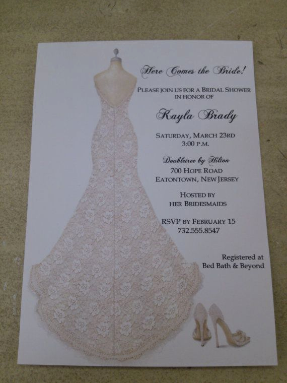 Bridal Shower Invitation Fonts Luxury Bridal Shower Invitations Lace Dress with Shoes