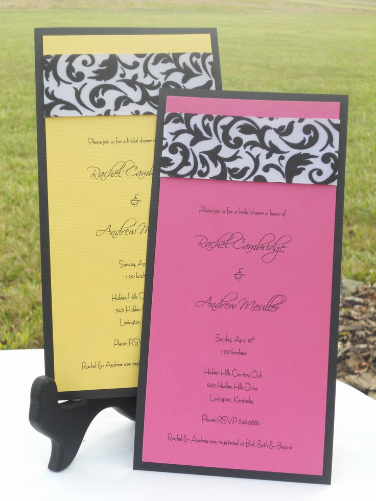 Bridal Shower Invitation Ideas Awesome 27 Best Images About Anniversary Invitations On Pinterest