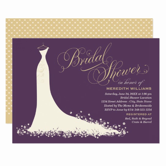 Bridal Shower Invitation Images Awesome Bridal Shower Invitation Elegant Wedding Gown