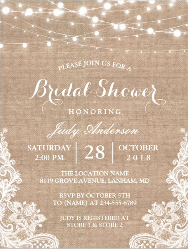 Bridal Shower Invitation Images Beautiful 26 Free Bridal Shower Invitations Psd Eps