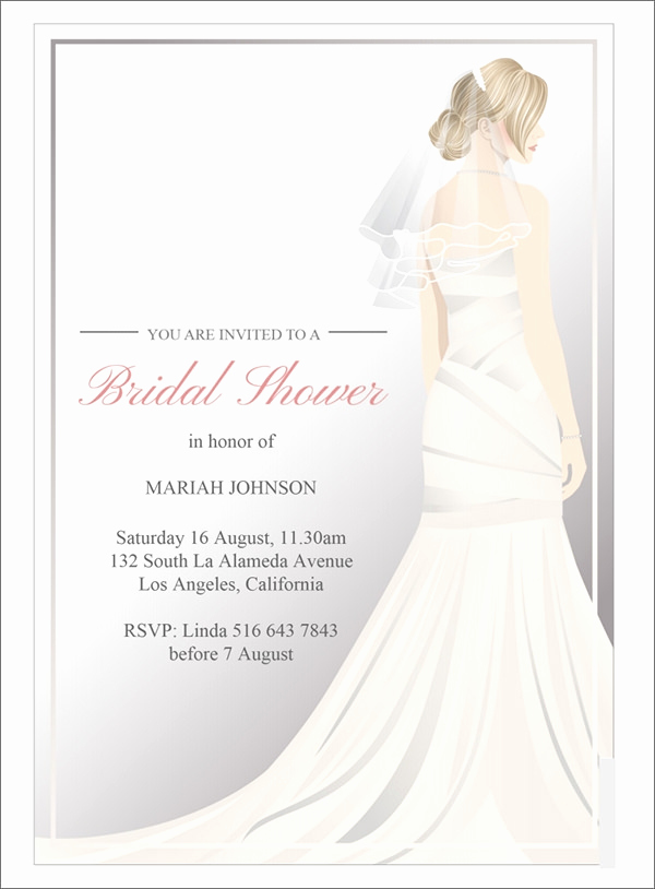 Bridal Shower Invitation Images Fresh 25 Bridal Shower Invitation Templates Download Free