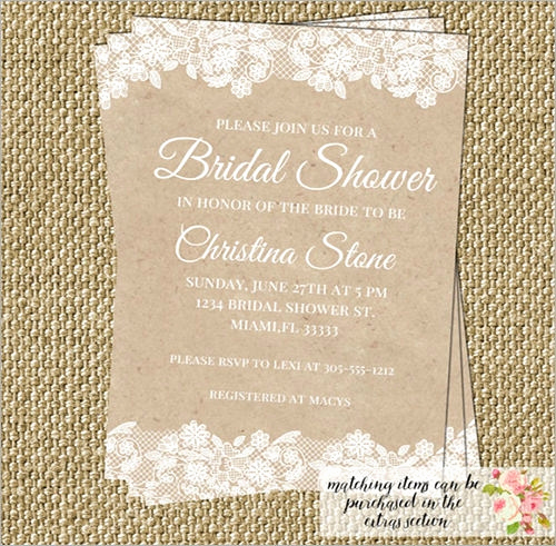 Bridal Shower Invitation Images Inspirational 54 Invitation Templates Word Psd Ai