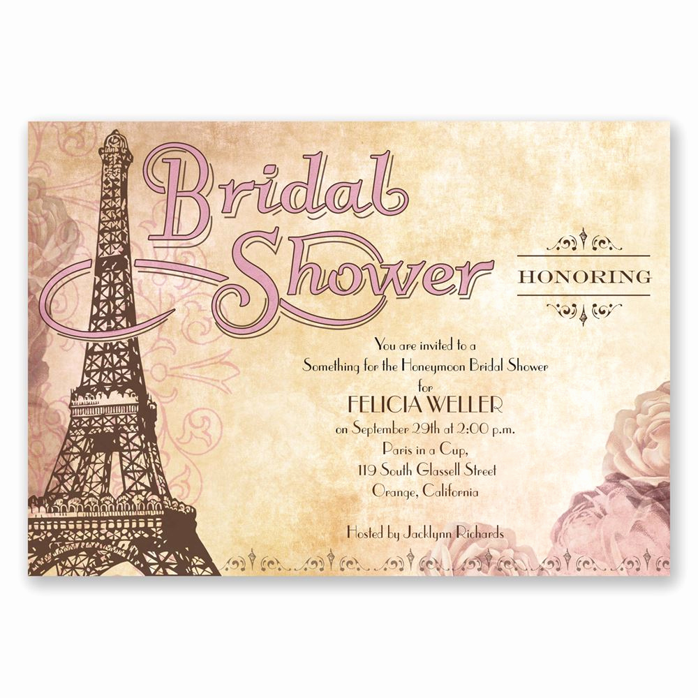 Bridal Shower Invitation Images Lovely Eiffel tower Bridal Shower Invitation