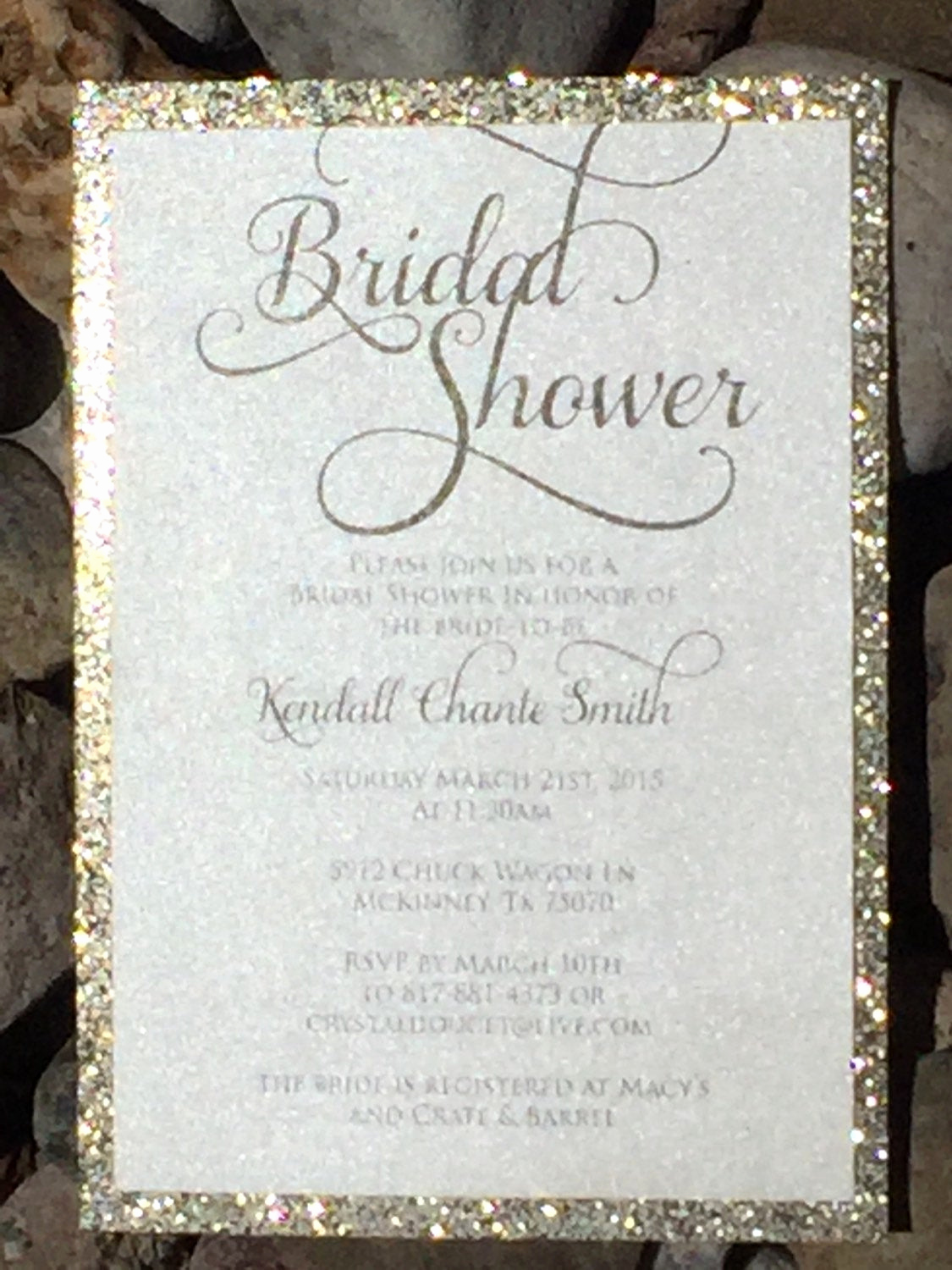 Bridal Shower Invitation Images Luxury Bridal Shower Invitation Glitter Bridal Shower Invitations