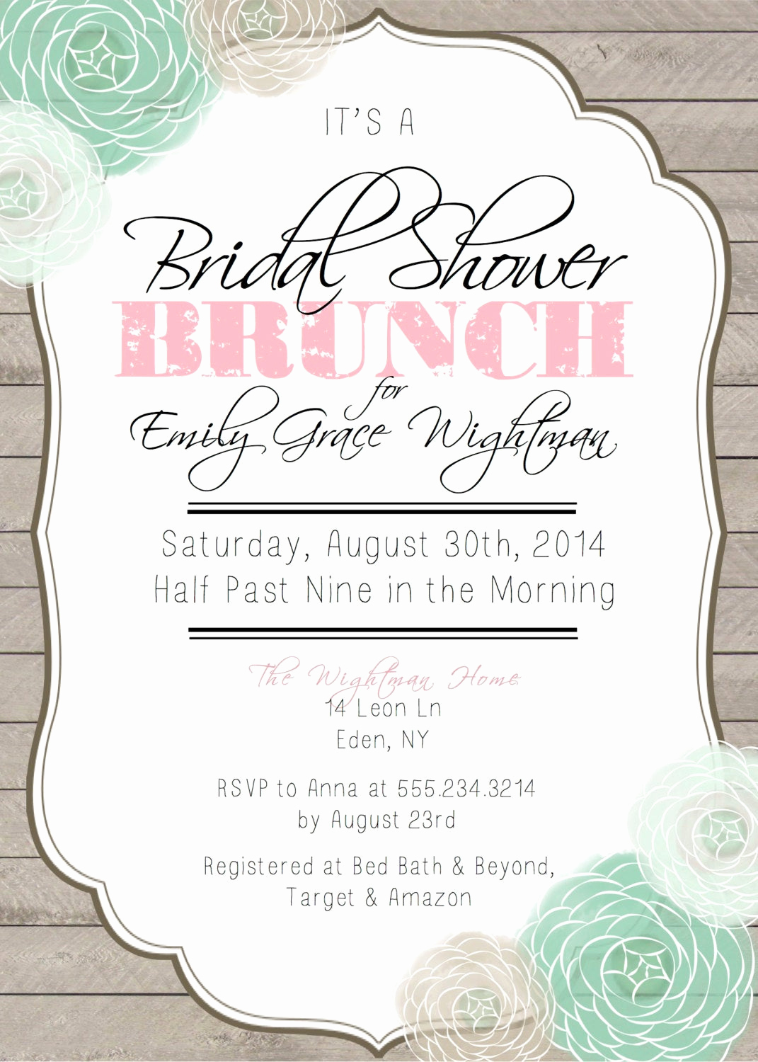 Bridal Shower Invitation Images Unique Bridal Shower Brunch Printable Invitation