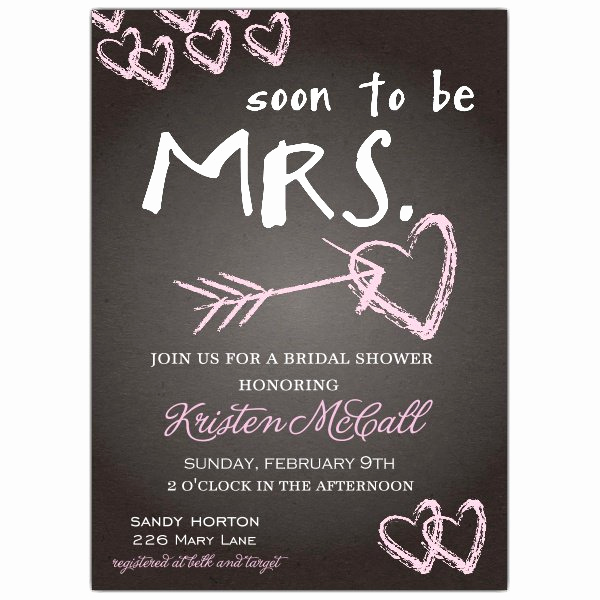 Bridal Shower Invitation Images Unique Chalkboard Love Bridal Shower Invitations