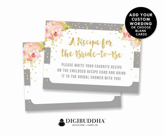 Bridal Shower Invitation Inserts Elegant Bridal Shower Insert Card Custom Invitation Enclosure