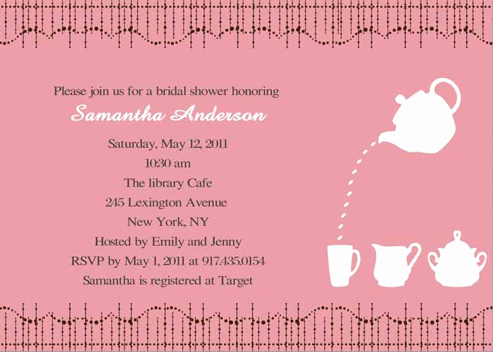 Bridal Shower Invitation Poems Awesome Cheap Print Pink Bridal Shower Tea Party Invitations