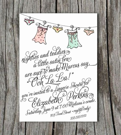 Bridal Shower Invitation Poems Best Of Lingerie Bridal Shower Invitation