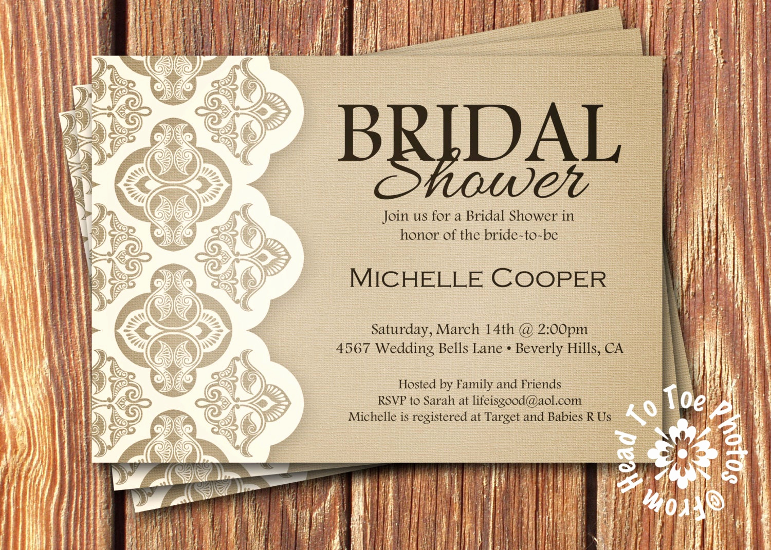 Bridal Shower Invitation Poems Inspirational Shabby Chic Bridal Shower Invitations by Fromheadtotoedesigns