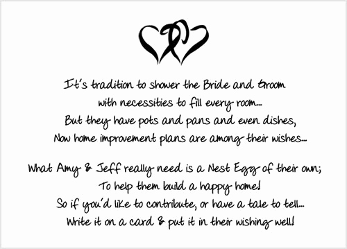 Bridal Shower Invitation Poems Lovely Bridal Shower Insert Poem Card Bridal Shower