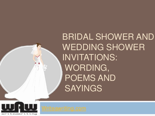 Bridal Shower Invitation Poems Luxury Bridal Shower and Wedding Shower Invitations Wording