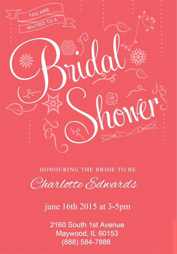 Bridal Shower Invitation Template Awesome Free 37 Best Bridal Shower Invitation Templates In